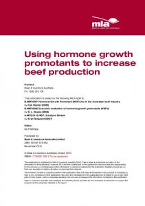 Using hormone growth promotants to increase beef production