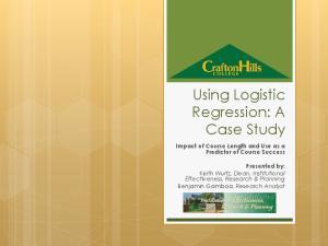 Using Logistic Regression: A Case Study