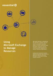 Using Microsoft Exchange to Manage Resources
