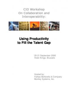Using Productivity to Fill the Talent Gap