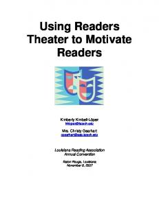 Using Readers Theater to Motivate Readers