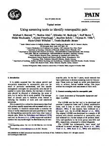 Using screening tools to identify neuropathic pain