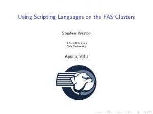 Using Scripting Languages on the FAS Clusters