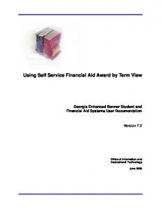 Using Self Service Financial Aid Award by Term View