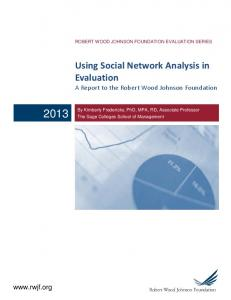 Using Social Network Analysis in Evaluation