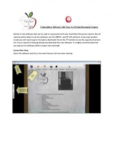 Using Sphere Software with Your AverVision Document Camera