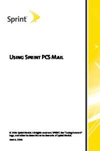 Using Sprint PCS Mail