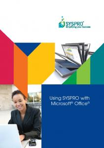 Using SYSPRO with Microsoft Office