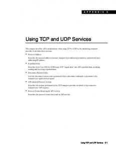 Using TCP and UDP Services