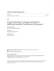 Using Technology to Engage and Improve Millennial Students' Presentation Performance