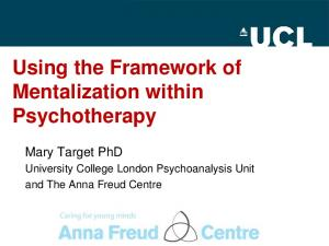 Using the Framework of Mentalization within Psychotherapy