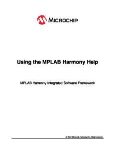 Using the MPLAB Harmony Help