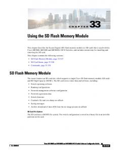 Using the SD Flash Memory Module