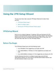 Using the VPN Setup Wizard
