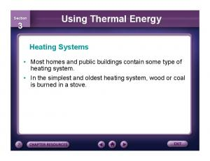 Using Thermal Energy