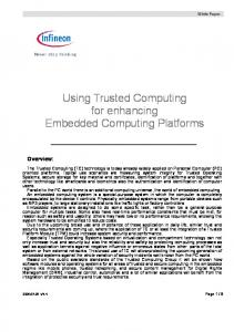 Using Trusted Computing for enhancing Embedded Computing Platforms