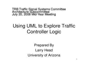 Using UML to Explore Traffic Controller Logic