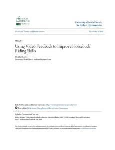 Using Video Feedback to Improve Horseback Riding Skills