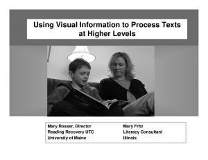 Using Visual Information to Process Texts at Higher Levels