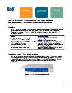Using Web Jetadmin to Update the HP Print Server Appliance