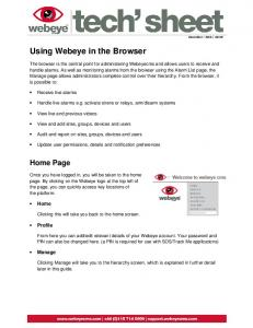 Using Webeye in the Browser
