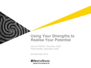 Using Your Strengths to Realise Your Potential