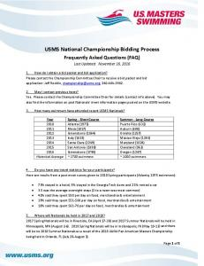 USMS National Championship Bidding Process