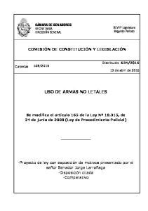 USO DE ARMAS NO LETALES