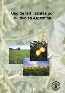 Uso de fertilizantes por cultivo en Argentina