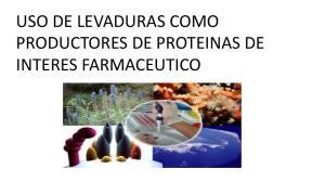 USO DE LEVADURAS COMO PRODUCTORES DE PROTEINAS DE INTERES FARMACEUTICO