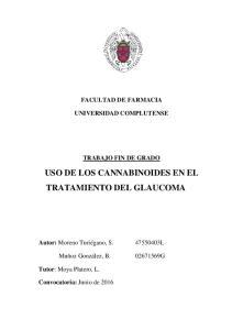 USO DE LOS CANNABINOIDES EN EL TRATAMIENTO DEL GLAUCOMA
