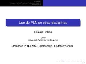 Uso de PLN en otras disciplinas