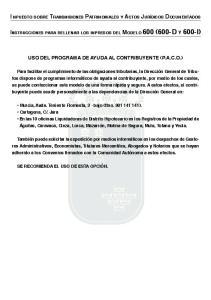USO DEL PROGRAMA DE AYUDA AL CONTRIBUYENTE (P.A.C.O.)
