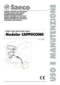 USO E MANUTENZIONE. Modular CAPPUCCINO