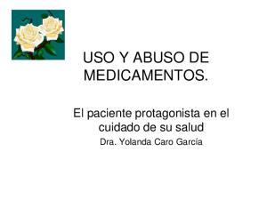 USO Y ABUSO DE MEDICAMENTOS