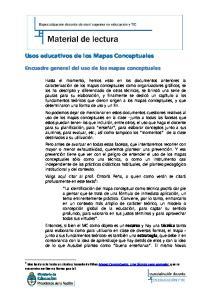 Usos educativos de los Mapas Conceptuales
