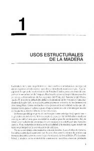 USOS ESTRUCTURALES DE LA MADERA