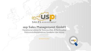 usp Sales Management GmbH Handelsunternehmen für Elektrotechnik & Maschinenbau Elektrotechnikunternehmen Installation und Service