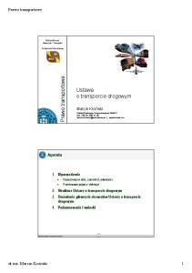 Ustawa o transporcie drogowym