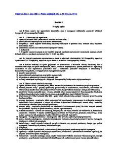 Ustawa z dnia 11 maja 2001 r. Prawo o miarach (Dz. U. Nr 243, poz. 2441)