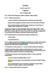 USTAWA. z dnia 29 czerwca 1995 r. o obligacjach. (Dz. U. Nr 83, poz. 420)