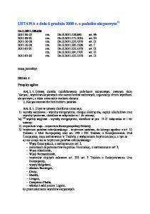 USTAWA z dnia 6 grudnia 2008 r. o podatku akcyzowym 1)
