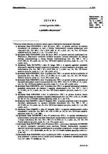 USTAWA. z dnia 6 grudnia 2008 r. o podatku akcyzowym 1)