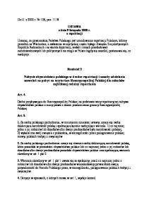 USTAWA z dnia 9 listopada 2000 r. o repatriacji
