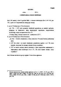 USTAWA. z dnia.2010 r. o zmianie ustawy o dozorze technicznym