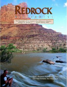 Utah s Resource Management Plans: One Step Forward, Two Steps Back