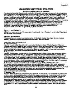 UTAH STATE UNIVERSITY ATHLETICS