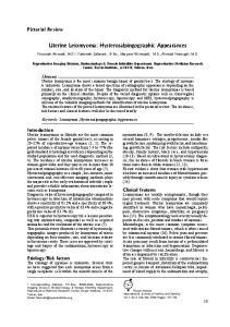 Uterine Leiomyoma: Hysterosalpingographic Appearances