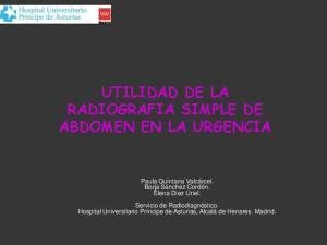 UTILIDAD DE LA RADIOGRAFIA SIMPLE DE ABDOMEN EN LA URGENCIA