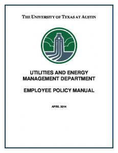 UTILITIES AND ENERGY MANAGEMENT DEPARTMENT